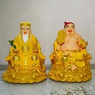 Bộ tượng Hai Ông Thần Tài Thổ Địa mẫu chéo chân 6in thumbnail