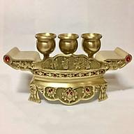 Bộ ngai 3 chén thờ cúng bằng đồng thumbnail