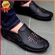 Giày Mọi Da Mềm, Thoáng Khí, Đế Cao Su Khâu thumbnail