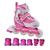 Combo Giày trượt patin K500 Hồng + bộ bảo hộ tay chân thumbnail
