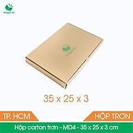 MD4 - 35x25x3 cm - 100 Thùng hộp carton + tặng 50 decal HÀNG DỄ VỠ thumbnail
