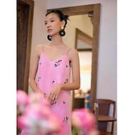 Đầm Da Lộn 2 Dây Thêu Hoa Bốn màu EDINI - D1333 thumbnail