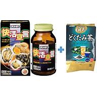 Combo Tinh chất hàu tươi tỏi nghệ Orihiro Vivacity và Trà diếp cá thải độc Dokudami Orihiro Nhật Bản thumbnail