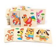 Combo 10 Miếng tranh ghép hình động vật - Tặng kèm Ebooks sách Nuôi dạy con thumbnail