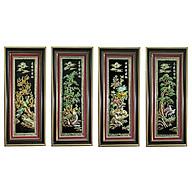 Tranh Tứ Quý - Nền Đen - Bộ 4 Bức (45 x 105cm) thumbnail