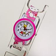 Đồng hồ trẻ em hình hello kitty dây silicon dành cho bé gái - KITTY22hong thumbnail