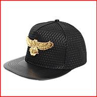 Mũ lưỡi trai đính chim đại bàng chất liệu vải màu đen và tím than phong cách hiphop cho bé trai bé gái E165 thumbnail