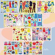 Búp bê giấy chibi đồ chơi cắt thủ công cho bé Combo 9 hình siêu đáng yêu BBG0012 thumbnail