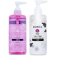Bộ mỹ phẩm trắng da dưỡng da mềm mịn Biorica Rose Nhật Bản Chính hãng (300ml lọ) (NƯỚC HOA HỒNG+ SỮA DƯỠNG) thumbnail