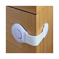 Sét 3 dụng cụ khóa tủ tạnh, ngăn kéo màu trắng 20x5cm thumbnail