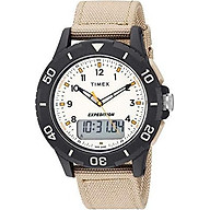 Timex Men s TW4B16800 Expedition Katmai Combo 40mm Khaki Black Natural Nylon Strap Watch thumbnail