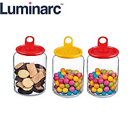 Bộ 3 Hũ Thuỷ Tinh Luminarc Rondo Smile (Màu Ngẫu Nhiên) thumbnail