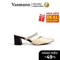 Giày Cao Gót Vasmono Bít Mũi Da Rắn thumbnail