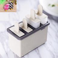 Khuôn làm kem 4 ngăn cao cấp, an toàn cho người dùng 13.5 x 7 x 8.5 cm+ Tặng kèm hình dán que kem thumbnail