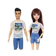 Set 2 mẫu đồ đôi cho búp bê nữ và búp bê Ken giao mẫu ngẫu nhiên thumbnail