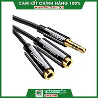 Cáp Chia Cổng Âm Thanh 3.5mm 1 Ra 2 Cao Cấp Ugreen 20816 -Hàng chính hãng. thumbnail