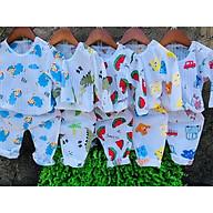 sét 5 Bộ cotton giấy dài tay cài vai nhiều mẫu xinh cho bé(shop giao họa tiết ngẫu nhiên) thumbnail