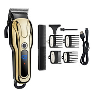 LCD Display Men s Rechargeable Hair Clipper 2-speed Adjustment for Salon Professional Household thumbnail
