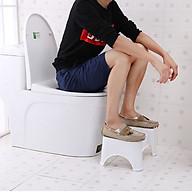 Ghế kê chân Toilet ngăn ngừa ung thư đại tràng chất liệu nhựa ABS thumbnail