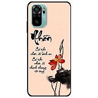 Ốp lưng dành cho Xiaomi Redmi Note 10 - Redmi Note 10 Pro - mẫu Thư Pháp Nhẫn Nền Hồng thumbnail
