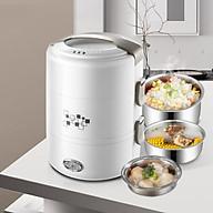 Hộp cơm điện hâm nóng và nấu chín đồ ăn 3 ngăn inox cao cấp dung tích 2 lít thumbnail