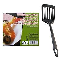 Combo Set 40 giấy thấm dầu mỡ đồ chiên rán và Xẻng lật có rãnh nội địa Nhật Bản thumbnail