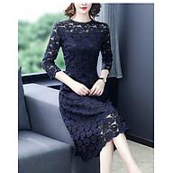 Simple autumn new product Slim lace temperament elegant waist A-line skirt thumbnail