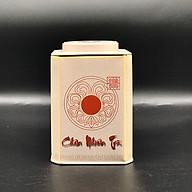 Hộp vuông đựng trà bằng thép màu trắng thumbnail