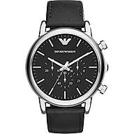 Emporio Armani Men s AR1828 Dress Black Leather Watch thumbnail