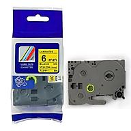 Nhãn in TZ2-611 tiêu chuẩn - Chữ đen trên nền vàng 6mm-Hàng nhập khẩu thumbnail