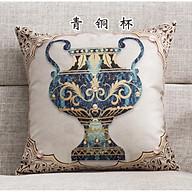 Vỏ Gối tựa lưng, gối sofa, gối trang trí NHỮNG CHÚ VOI SBK073 thumbnail
