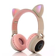 Tai nghe mèo bluetooth chụp tai cao cấp Headphone tai mèo dễ thương, có mic, chống ồn, âm bass trầm ấm - BH 12T thumbnail