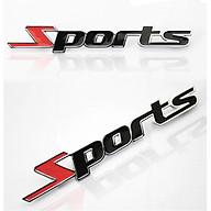 [COMBO 2 Chiếc] Logo thể thao SPORT dán bên ngoài xe hơi độc đáo thumbnail
