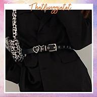Dây thắt lưng da nữ Ulzzang cá tính phong cách Hàn Quốc TL058 (Hỗ trợ bấm dây nịt) thumbnail