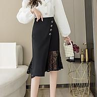 [CAO CẤP] Chân váy phối ren cao cấp V3 chất lượng, co dãn, dự tiệc, váy văn phòng Cỏ Boutique thumbnail