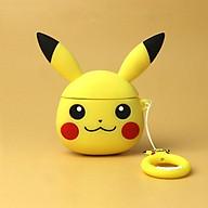 Airpods Pro Case_ Ốp Bảo Vệ Cho Airpods Pro Hình Pikachu Vàng_tặng kèm ngẫu nhiên móc khóa mèo con ngồi hộp thumbnail