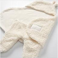 Chăn ủ lông cừu hình gấu siêu mềm, siêu đáng yêu cho bé 0 - 12 tháng - giao màu ngẫu nhiên thumbnail