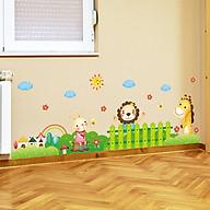 Decal dán tường chất liệu PVC loại 1 dày dặn, sắc nét, trang trí lớp mầm non, phòng cho bé- Chân tường thú- mã sp XL7181 thumbnail