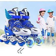 Giày Trượt Patin Phát Sáng Sport Trẻ Em - Batin Người Lớn QF Thế Hệ Mới (Tặng 2 Thanh Cờ Lê Tháo Lốp) thumbnail