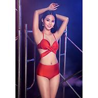 BIKINI PASSPORT - Bikini lưng cao, áo đan chéo - Cam - BS362_OR thumbnail