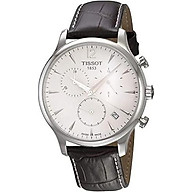 Tissot Men s T063.617.16.037.00 Stainless Steel Tradition Watch with Textured Leather Band thumbnail