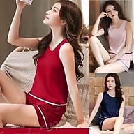 đồ bộ nữ kate lụa, set đồ nữ dễ thương 0127 thumbnail