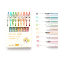 9pcs Simple Fashion Gel Ink Pen Colored Pens 0.5mm Fine Tip for Writing Drawing Graffiti School Office Supplies thumbnail
