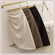 Chân váy công sở lưng cao, xếp ly siêu tôn dáng Eva Design thumbnail