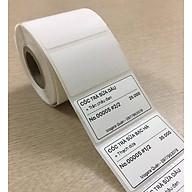 Set 5 cuộn giấy in mã vạch nhiệt 52x33 cuộn 30m thumbnail