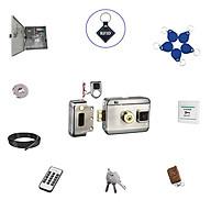 Bộ khóa cổng điện tử thông minh thẻ từ , remote , chìa khóa cơ SG-202UP thumbnail