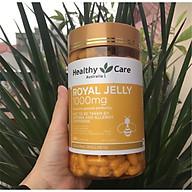Sữa Ong Chúa chống lão hóa, làm đẹp da cho người lớn từ 18 tuổi Healthy Care Royal Jelly 1000mg(365 viên) thumbnail