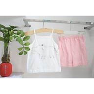 Bộ đồ mặc nhà cho Bé Gái, Chất cotton thấm hút tốt, thoải mái dễ chịu thumbnail
