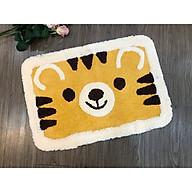 Thảm chùi chân mặt gấu vàng dễ thương thumbnail