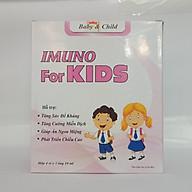 Siro IMUNU For KIDS - Tăng Cường Sức Đề Kháng, Giảm Mắc Các Bệnh Về Đường Tiêu Hóa Cho Bé ( Hộp 20 ống) thumbnail